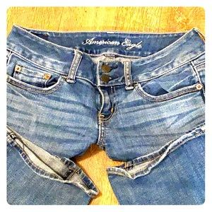 Distressed American Eagle Jeans Size 0 Regular